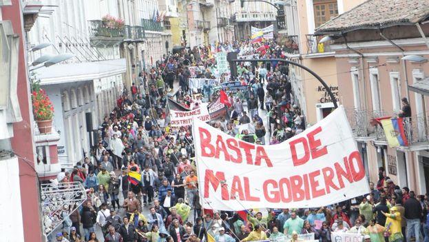 Correa se ha referido a las manifestaciones contra Moreno que sus seguidores han llevado a cabo los últimos días. (@MashiRafael)
