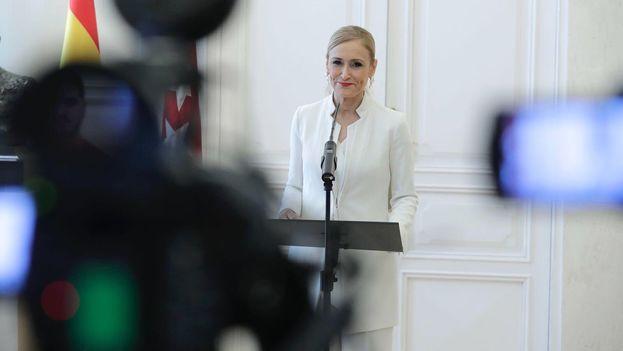 La situación de Cristina Cifuentes se estaba convirtiendo en un problema notable para el Partido Popular. (@ppmadrid)