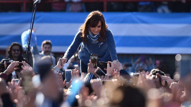Cristina Fernández de Kirchnet lanzó su proyecto en un acto electoral el 20 de junio, sin aludir ni a Perón ni al peronismo. (