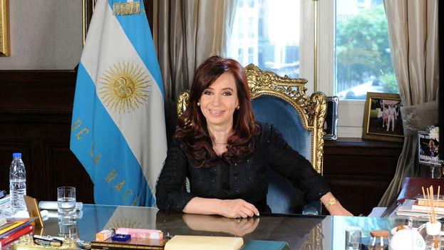 Cristina Fernández durante su mensaje de fin de año en 2010. (CC)