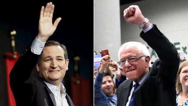 Ted Cruz y Bernie Sanders fueron los triunfadores en las primarias de Wisconsin este martes. (Twitter)