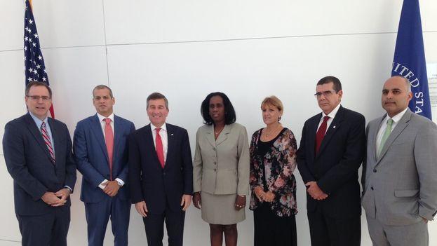 Las delegaciones de Cuba y EE UU se encontraron en la inauguración del diálogo económico bilateral. (@Minrex)
