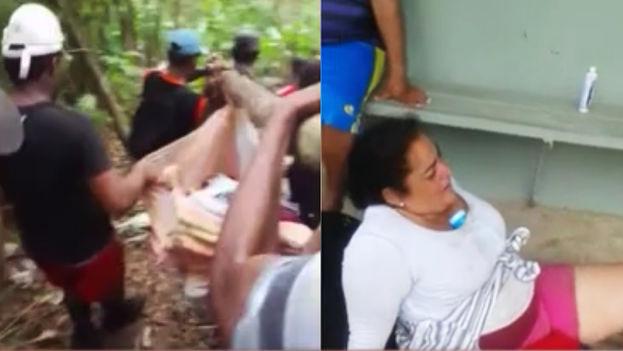 Cubana rescatada por habitantes locales tras caer en un barranco (Telemetro.com)