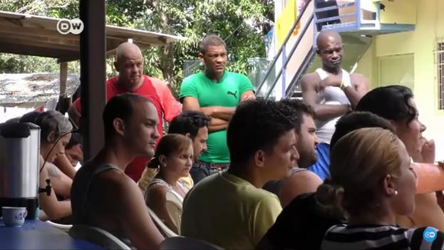 Cubanos varados en Costa Rica durante la crisis migratoria de finales de 2015 y principios de 2016. (Captura)
