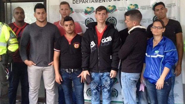 Cubanos detenidos en Saldaña, Colombia. (Ondas de Ibagué)