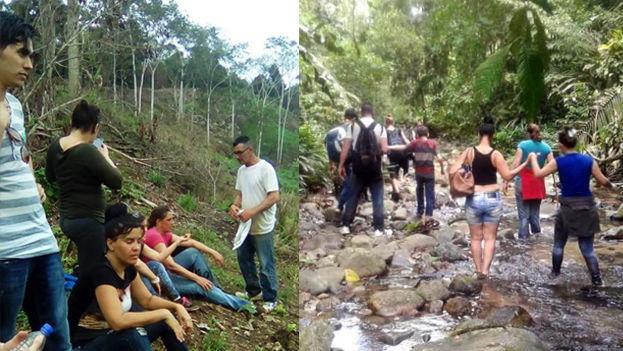 Cubanos atraviesan la selva del Darien para llegar a Panamá. (Cortesía a '14ymedio')