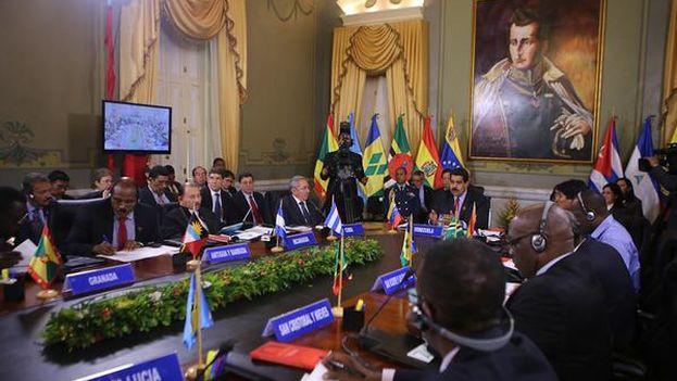 Cumbre extraordinaria del ALBA este martes en Caracas. (PSUV)