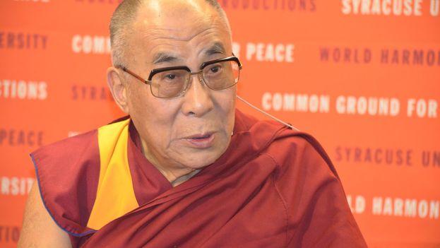 Dalai Lama en 2012 durante una visita a la Universidad de Siracusa. (CC)