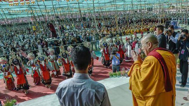 El Dalai Lama en 2014 durante la celebración de su 79 cumpleaños. (@DalaiLama)