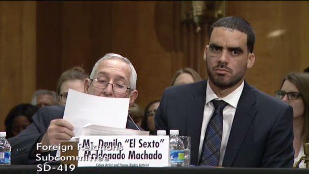 Danilo Maldonado, El Sexto, comparece ante una comisión del Senado de Estados Unidos. (14ymedio)