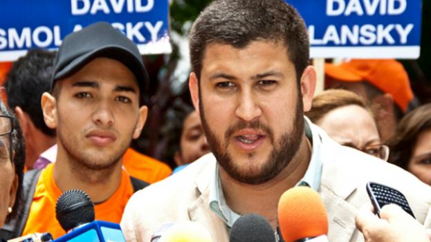 """El exalcalde venezolano David Smolansky aseguró en Bogotá que su país está """"completamente destruido sin estar formalmente en una guerra"""". (EFE)"""