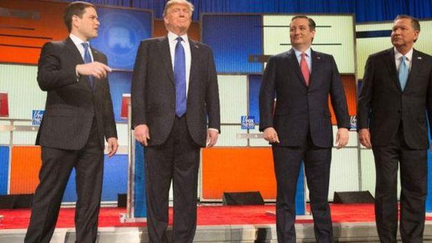 Debate entre los aspirantes republicanos este jueves en Miami