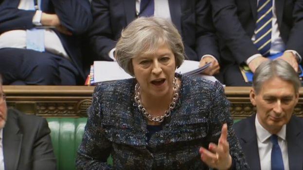 Theresa May, primera ministra de Reino Unido. (@UKParliament)