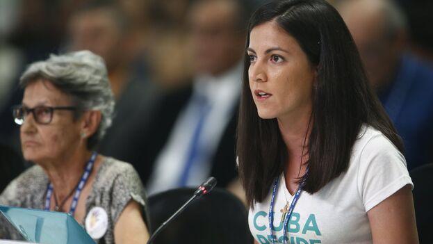 La opositora Rosa María Payá, promotora de Cuba Decide. (EFE/Luis Eduardo Noriega A./Archivo)