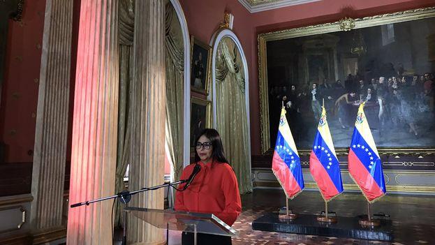 Delcy Rodríguez hizo el anuncio ante los medios estatales, aunque no especificó cuándo comenzará el debate para la Ley de Amnistía. (DRodriguezVen)