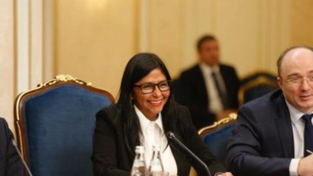 Delcy Rodríguez en su visita a Rusia, donde ha tratado de estrechar la relación como reacción a EE UU.