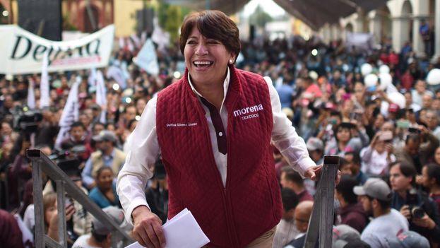 Delfina Gómez, candidata de Morena. (@GPMorena63)