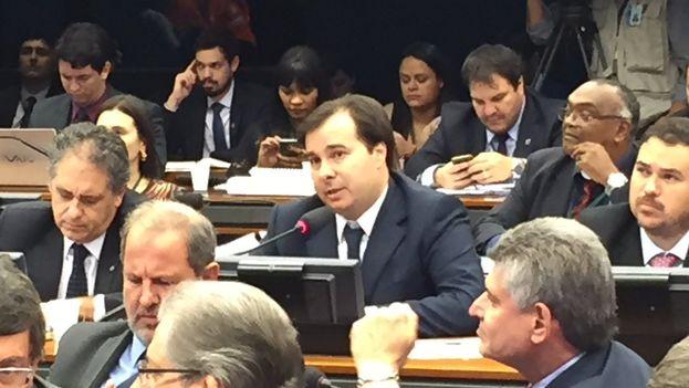 Rodrigo Maia obtuvo 285 votos frente a los 170 del líder del Partido de la Social Democracia Brasileña (PSDB), Rogerio Rosso. (@DepRodrigoMaia)