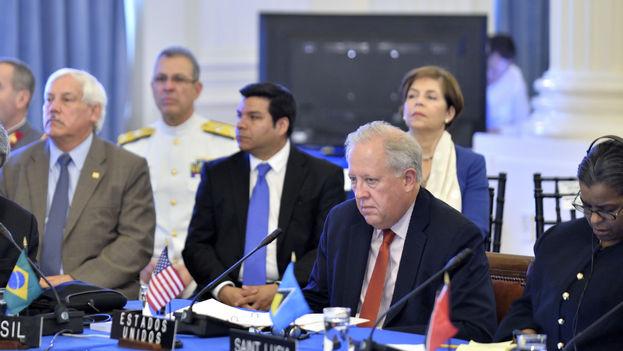 El consejero del Departamento de Estado de Estados Unidos, Thomas Shannon, en un encuentro de la OEA. (Juan Manuel Herrera/OAS)