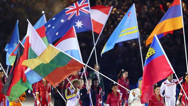 Desfile de clausura de los Juegos Olímpicos de Londres 2012. (EFE)
