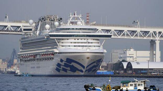 El crucero Diamond Princess en el puerto japonés de Yokohama. (EFE)