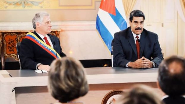 """Díaz-Canel repudió ante Maduro los """"intentos"""" de Estados Unidos de """"intervenir"""" en Latinoamérica. (Nicolás Maduro)"""