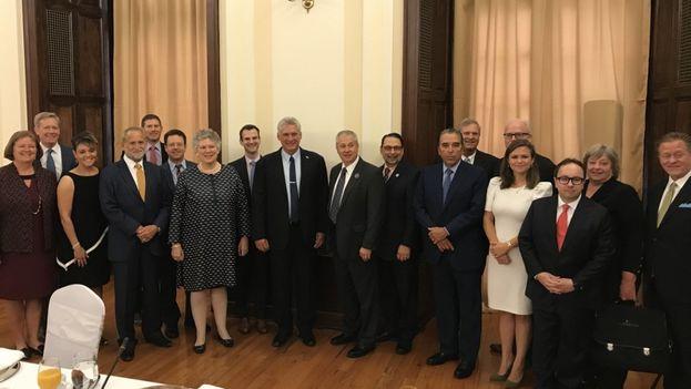 Díaz-Canel se reunió con representantes de asociaciones agrícolas estadounidenses. (EFE)