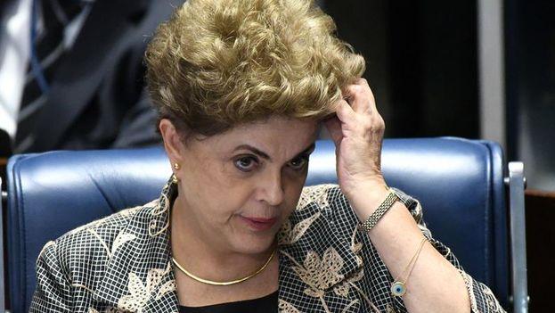 Dilma Rousseff, destituida este miércoles como presidenta de Brasil. (EFE/Cadu Gomes)