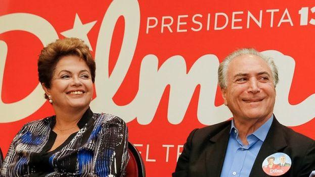 Dilma Rousseff y Michel Temer se presentaron juntos a las elecciones de 2014. (EFE)
