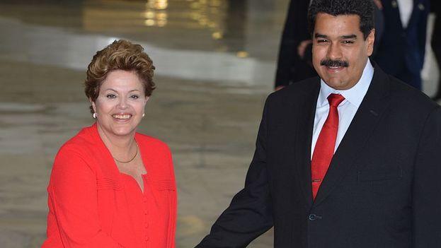 Dilma Rousseff y Nicolás Maduro en un encuentro en 2013. (CC)
