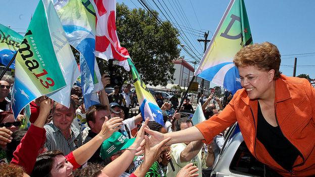 Dilma Rousseff, en la campaña de 2010
