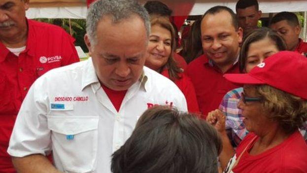 Diosdado Cabello este miércoles en Monagas. (@PartidoPSUV)