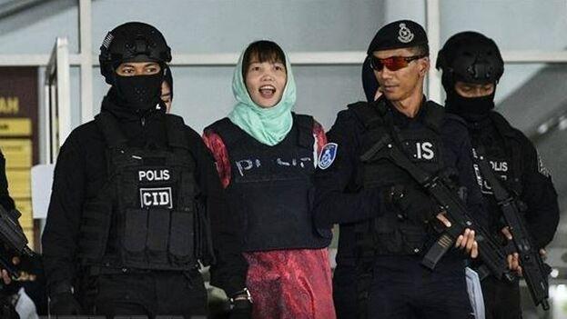 Doan, condenada por el asesinato de Kim Jong-nam, será deportada tras su liberación este viernes. (VNA)