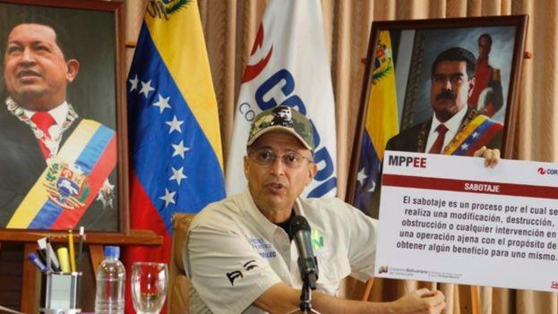 Luis Motta Domínguez, ministro de Energía Eléctrica y presidente de la estatal Corporación Eléctrica Nacional (Corpoelec) en Venezuela