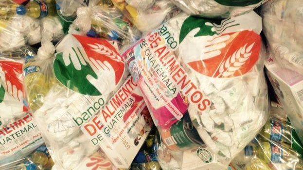 Donaciones del Banco de Alimentos de Guatemala. (Facebook)