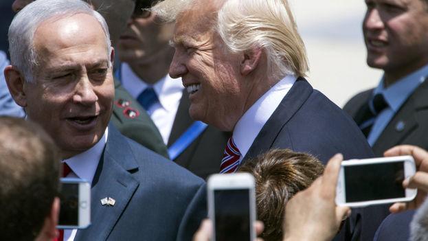 El presidente Donald Trump y el primer ministro de Israel, Benjamín Netanyahu. (EFE)