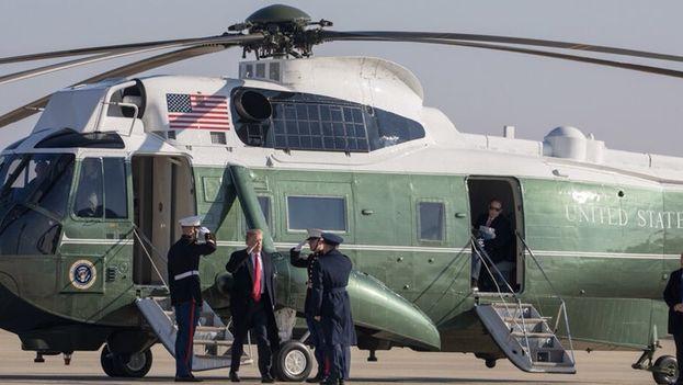 Donald Trump llegó a California para supervisar personalmente los prototipos del muro fronterizo. (@realDonaldTrump)