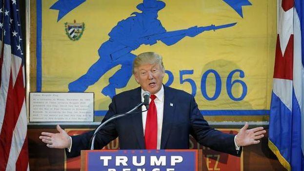 Donald Trump en un acto de campaña en Florida. (El Nuevo Herald)