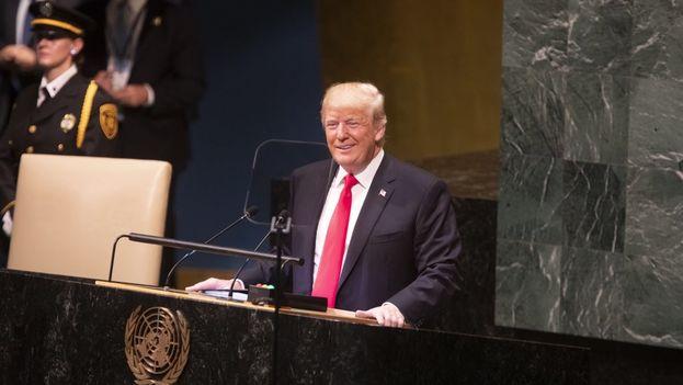 Donald Trump hizo una férrea defensa del patriotismo y de su labor de Gobierno durante su intervención en Naciones Unidas. (@realDonaldTrump)