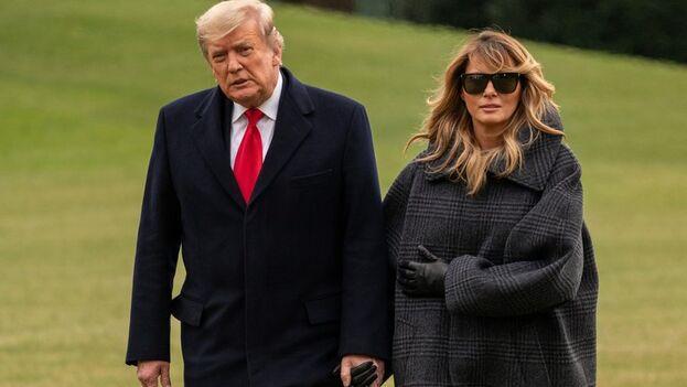 El presidente estadounidense Donald Trump y la primera dama Melania Trump. (EFE/EPA/Ken Cedeno)