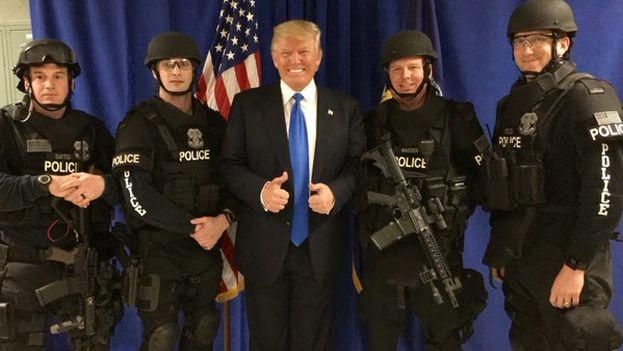 Donald Trump este domingo en Wisconsin. (@realDonaldTrump)