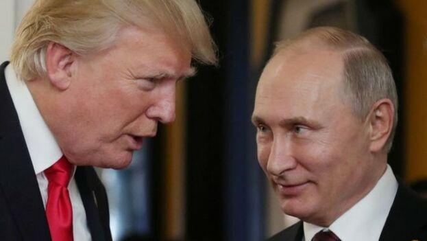 Donald Trump dice que Vladímir Putin no quiere intervenir en Venezuela. (EFE)
