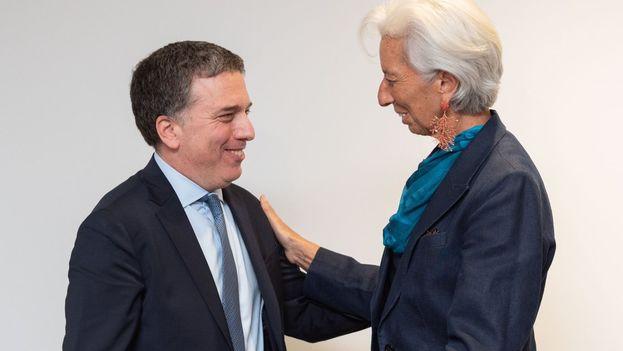 Dujovne y Lagarde se reunieron en Washington para acelerar los acuerdos. (@FMInoticias)