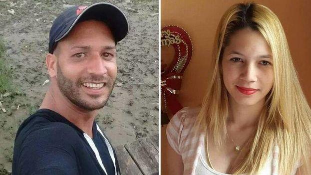 Los cubanos Dunieski Eliades Lastre y Edelvis Martínez (der.) fueron asesinados en septiembre del 2016 en el Urabá antioqueño, Colombia, por dos coyotes colombianos. (Cortesía)