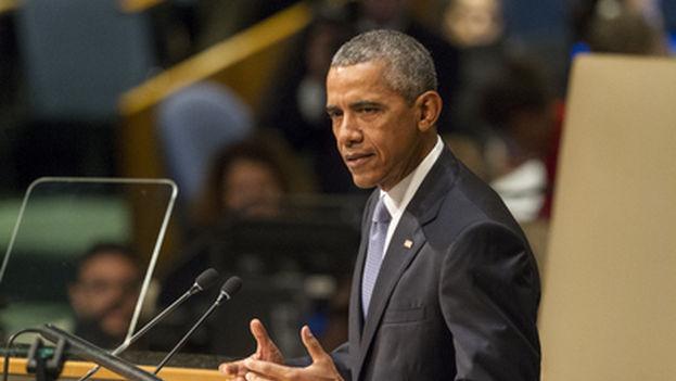 El presidente de EE UU, Barack Obama, en la Asamblea General de Naciones Unidas. (ONU)
