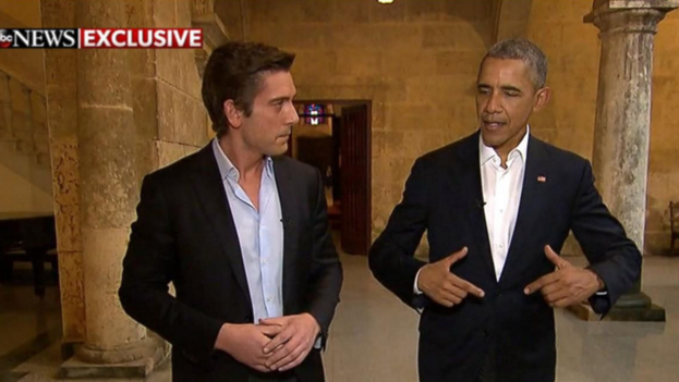 El presidente de EE UU, Barack Obama, durante la entrevista con ABC News.