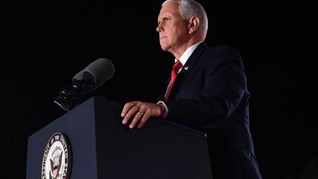 El vicepresidente de EE UU, Mike Pence, durante la tercera jornada de la Convención Nacional Republicana. (EFE/EPA/Kevin Dietsch)