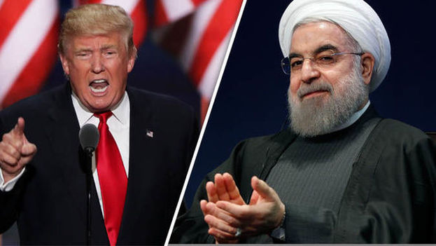 El presidente de EE UU, Donald Trump, y el iraní Hassan Rouhani. (CC)