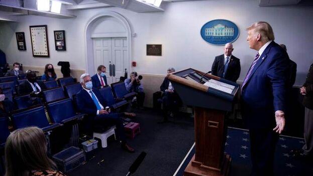 El presidente de EE UU, Donald Trump. (EFE/EPA/Shawn Thew)