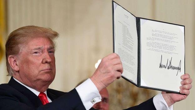 El presidente de EE UU, Donald Trump, en una imagen de archivo. (Twitter)